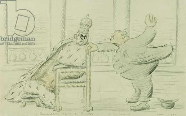 Mr Roosevelt's Visit to Europe, a Souvenir, 1910 (watercolour and pencil)