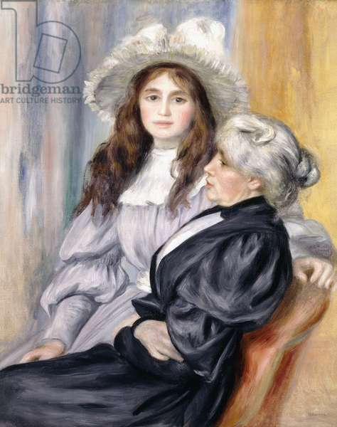 Berthe Morisot and her Daughter, Julie Manet, 1894 (oil on canvas)