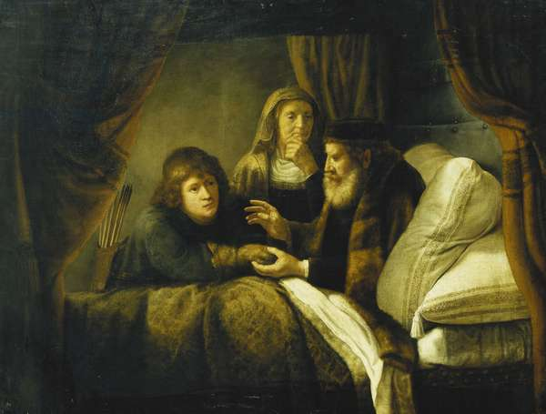 Issac Blessing Jacob, c.1640 (oil on canvas)
