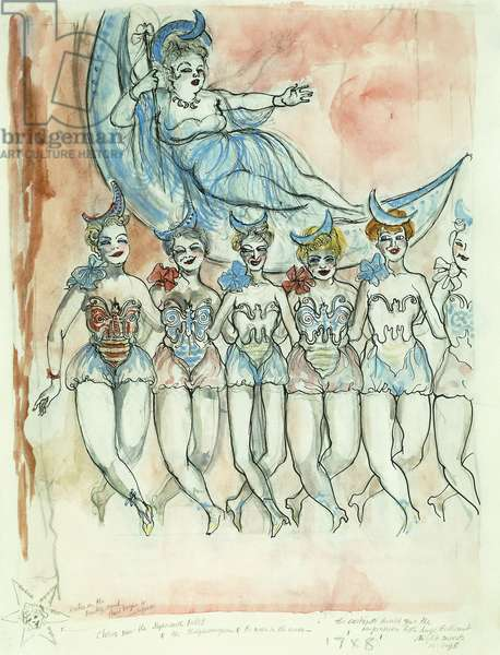 Night Insects, 1954-1955 (watercolour, pen and ink and pencil on paper)