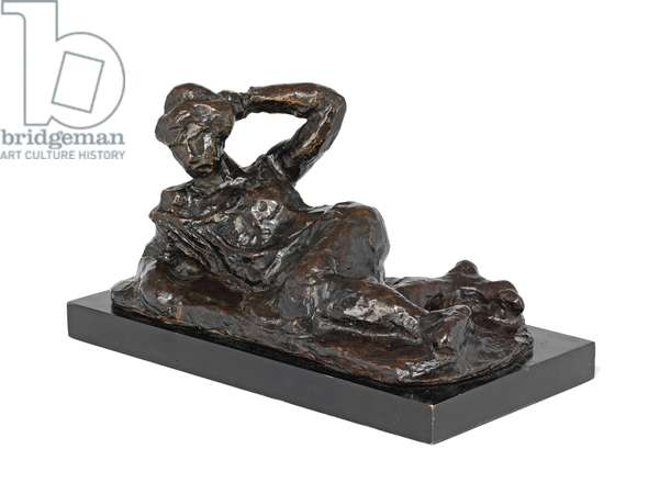 Reclining Nude in a Chemise, conceived 1906, cast 1951 (bronze with brown patina)