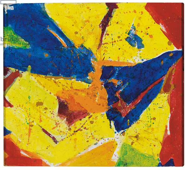 Blue, Yellow, Red, c.1959-1960 (oil on canvas)