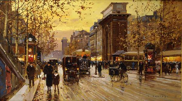 The Porte St, (oil on canvas)