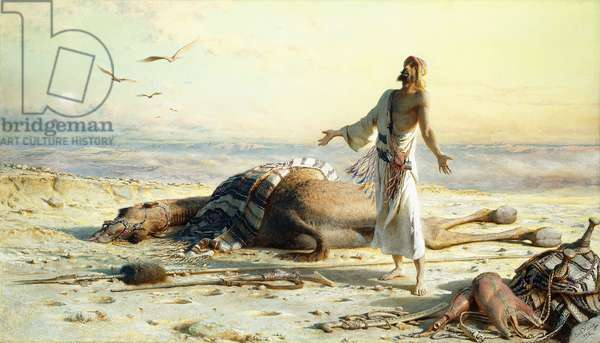 Shipwreck in the Desert, 1886 (watercolor over pencil)