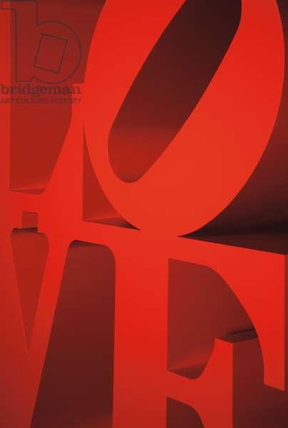 Red Love (detail), 1966 ; 2000 (painted aluminium)