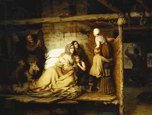 The Flood; Die Uberschwemmten, 1846 (oil on canvas)