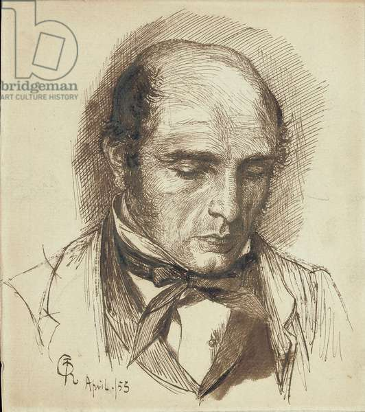 Portrait of Henry Polidori, 1953 (pencil, pen and brown ink, on paper)