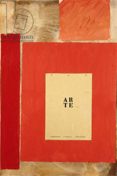 Arte, 1976 (acrylic with paper and canvas collage on canvas mounted on mason)