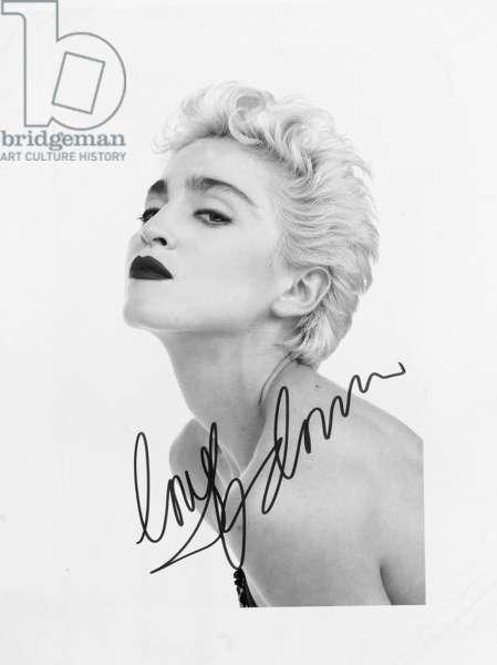 Madonna, c.1986 (b/w photo)