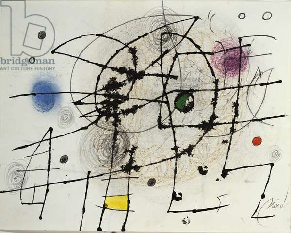 Composition, 1971-76 (gouache, chalk, pen & Indian ink and pencil on paper)