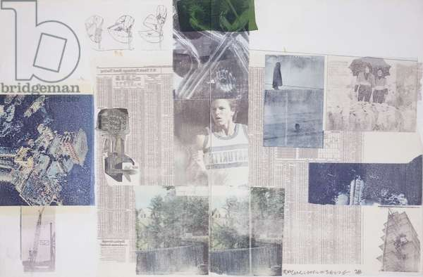 Untitled, 1978 (solvent transfer and fabric collage on paper)