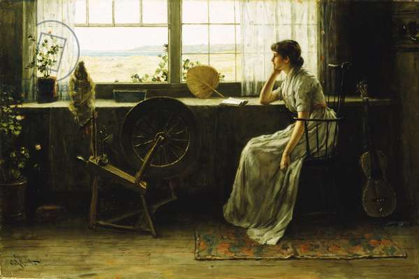 Waiting, 1885 (oil on canvas)