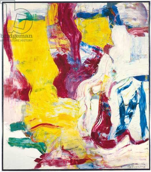 Untitled 1, 1981 (oil & charcoal on canvas)