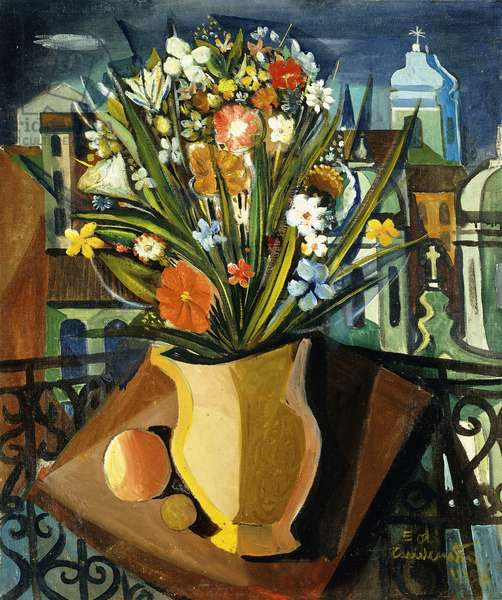 Still Life with Flowers; Natureza Morta com Flores, 1958 (oil on canvas)