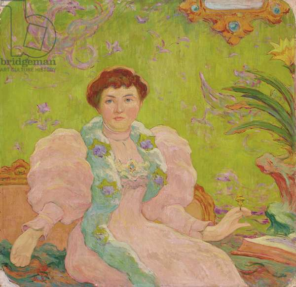Young Woman in Pink Dress; Jeune femme a la robe rose, c.1893 (oil on canvas)
