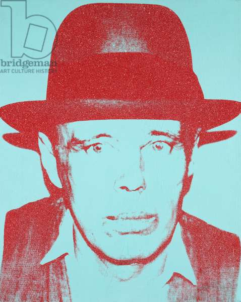 Portrait of Joseph Beuys, 1983 (silkscreen inks, synthetic polymer and diamond dust on canvas)