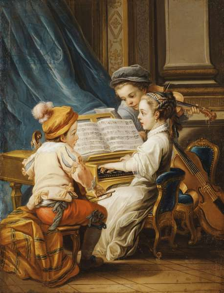 The Four Arts - Music,  (oil on canvas)