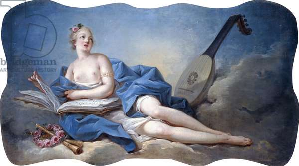 Personification of Music,  (oil on canvas)