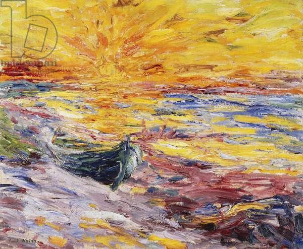 Sunset; Sonnenuntergang, 1909 (oil on canvas)