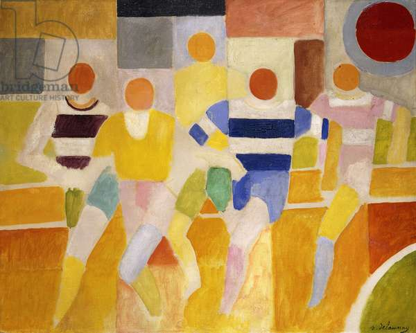 The Runners, 1926 (oil on canvas)