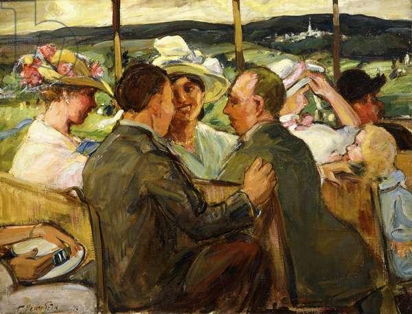 Trolley, Van Courtlandt Park, 1916 (oil on canvas)