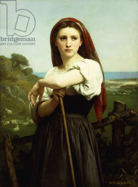 Young Shepherdess; Jeune Bergere, 1868 (oil on canvas)