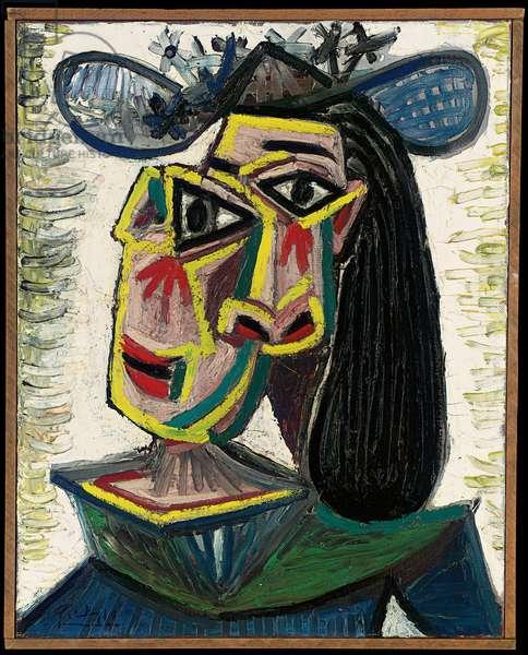 Head of a Woman (Dora Maar), 1941 (oil on canvas)