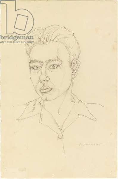 Self portrait, 1942 (graphite on paper)