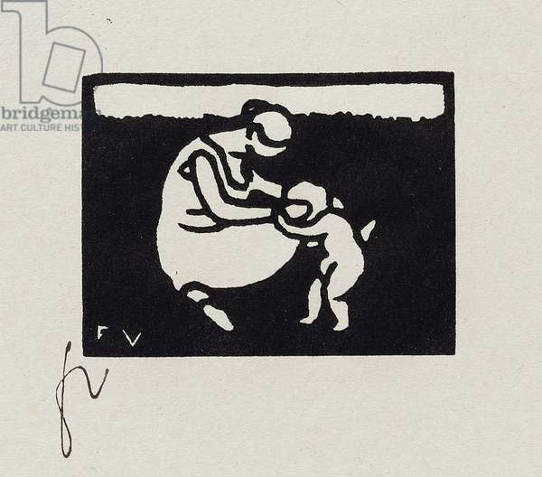 Bather with a Child, IX from 'Les Petites Baigneuses', 1893 (woodcut)