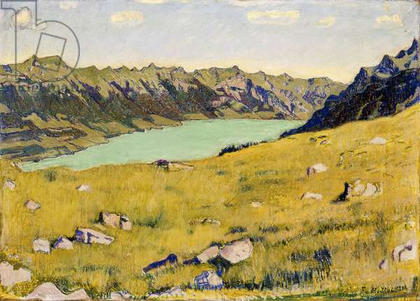 Der Brienzersee von Breitlauenen aus, 1906 (oil on canvas)