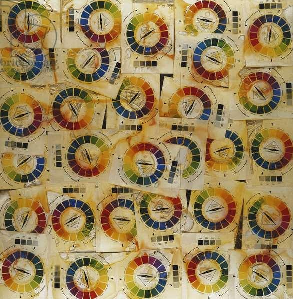 Accumulation of Colour Charts; Accumulation de Chartes de Couleur, 1969 (colour charts in polyester and plexiglass)