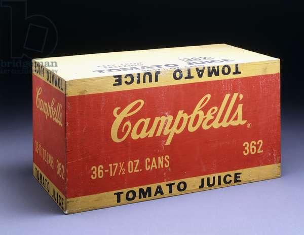 Campbell's Box (Tomato Juice), 1964 (silkscreen inks on wood)
