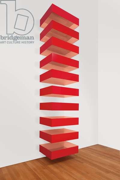 Untitled, 1989 (Bernstein 89-24), 1989 (copper and red Plexiglas)