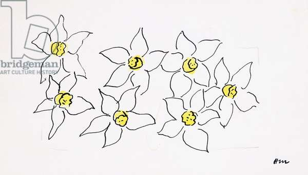 Daffodils, 1944-45 (watercolour, pen, pencil and black ink on paper)