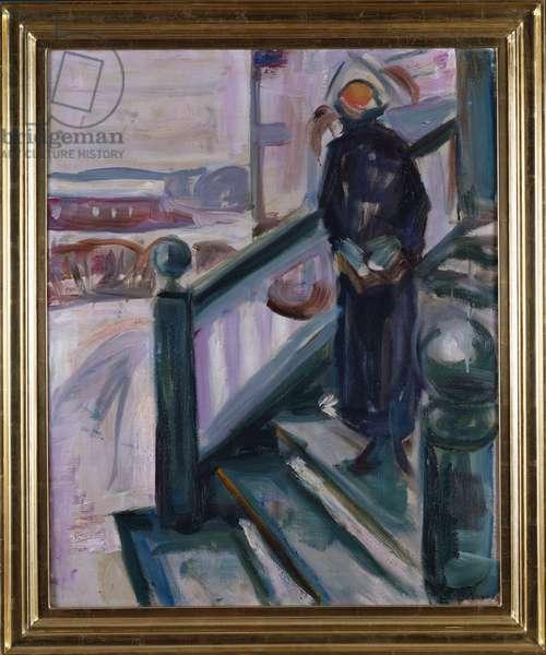Woman on the Veranda (oil on canvas)