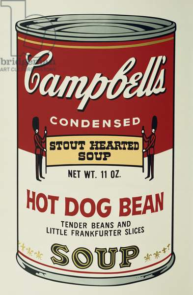 Hot Dog Bean Soup, from 'Campbell's Soup II', 1969 (colour screenprint)