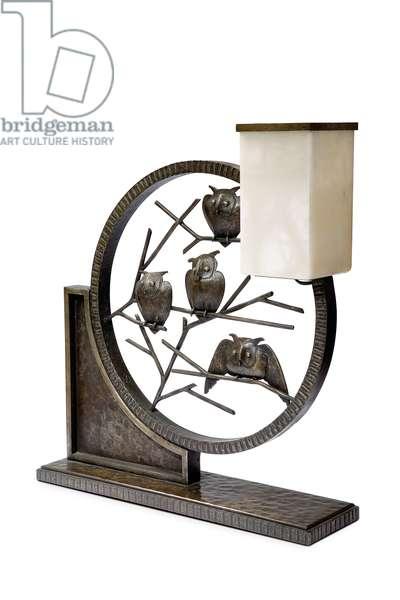 Lamp, 1931 (wrought iron & alabaster)