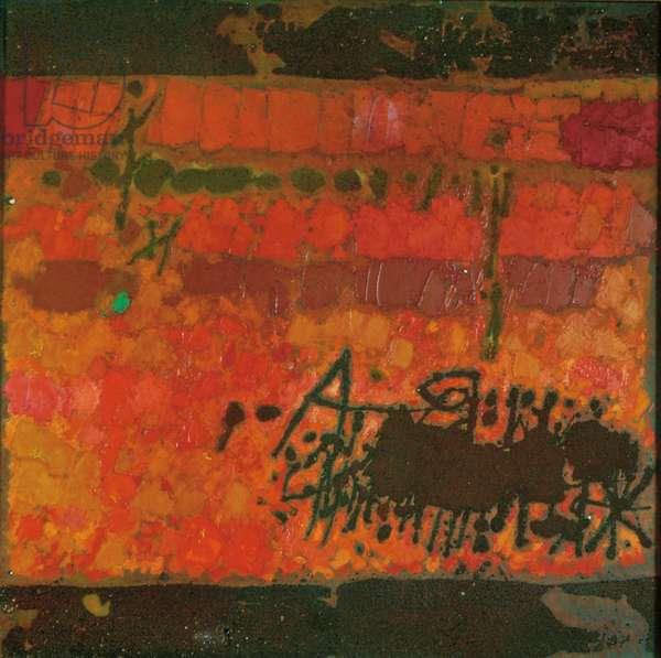 Autumn Note, 1963 (oil & sand on canvas)