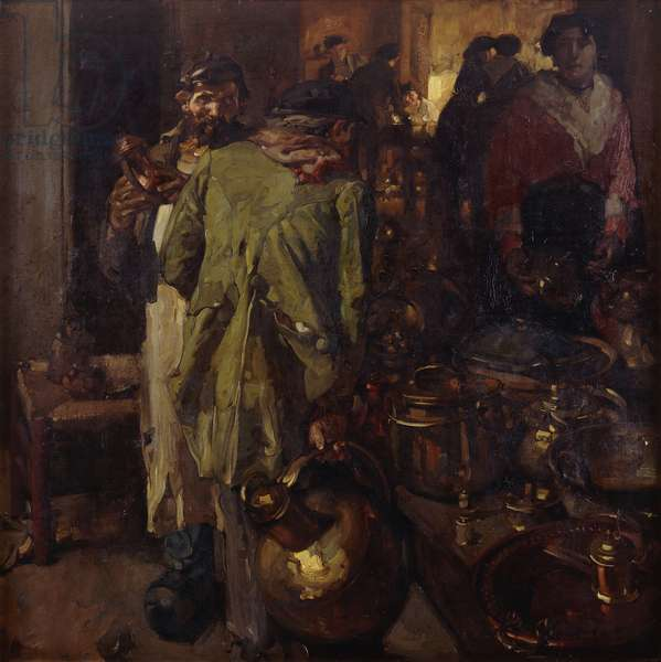 The Brass Shop, 1906 (oil on canvas)