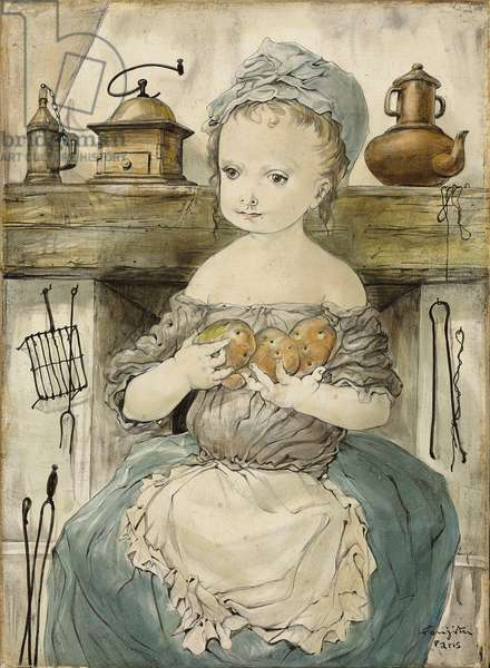 Young Girl with Potatoes; La jeune fille aux pommes de terre, 1952 (oil on canvas)
