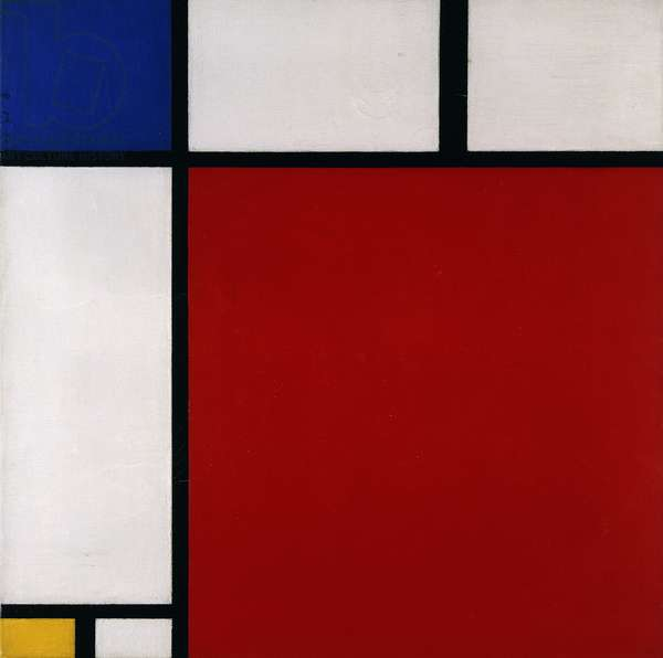 Composition with Red, Blue and Yellow, 1930 (oil on canvas)