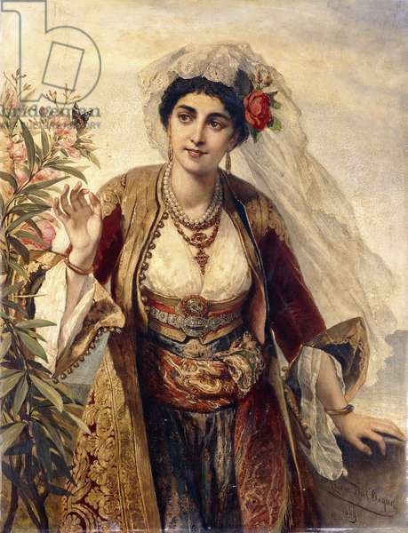 An Exotic Beauty, 1869 (oil on cradled panel)