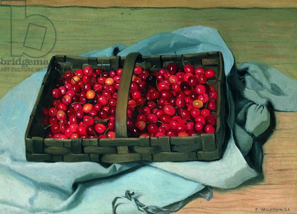 Basket of Cherries, 1921 (oil on canvas)