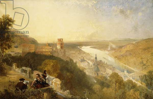 Heidelberg from the Terrace (oil on canvas)