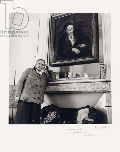 Gertrude Stein in her living room, 1946 (gelatin silver print) (see also 173091)
