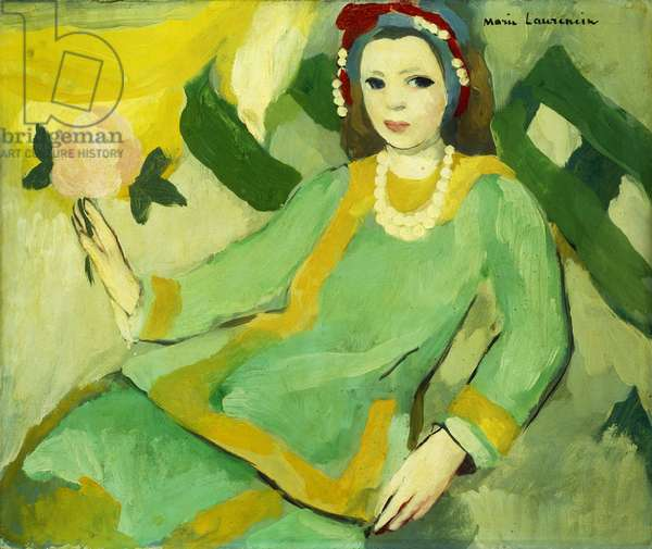 Young Woman in Chinese Pyjamas; Jeune Fille en Pyjama Chinois, (oil on canvas)