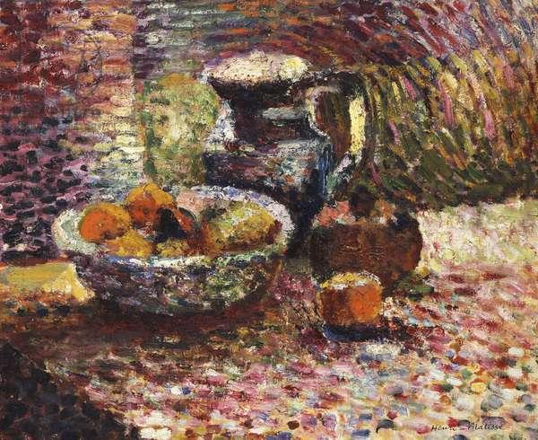Still Life with Pitcher and Fruit; Nature Morte au Pichet et Fruits, 1898 (oil on canvas)