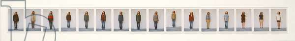 All My Clothes, 1973 (sixteen Kodachrome photographs mounted on board)