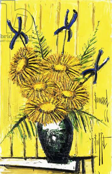 Marigold and iris, 1966 (oil on canvas)