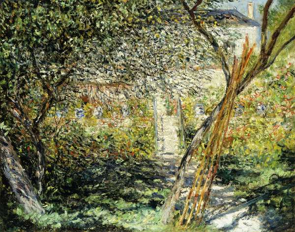 A Garden in Vetheuil; Le Jardin de Vetheuil, 1881 (oil on canvas)